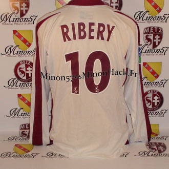 Maillot porté RIBERY Face au PSG  Saison 2004/2005