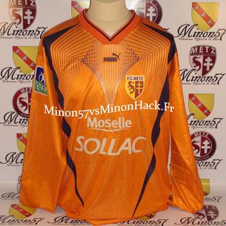 maillot porté BUTELLE Saison 2002/2003 FC METZ