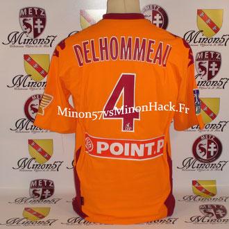 Maillot Porté par DELHOMMEAU 8ème de Finale Coupe de la Ligue 2008