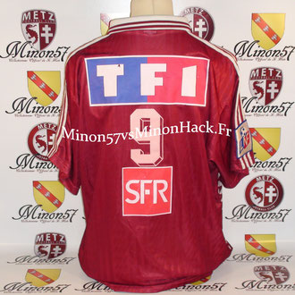Maillot Porté POUGET Coupe de la ligue 1996 FC METZ