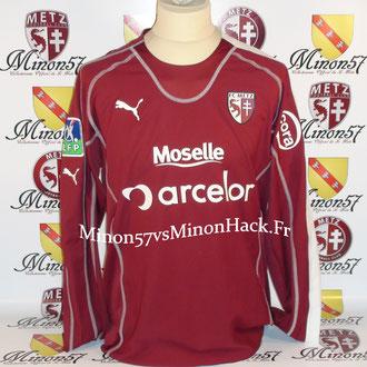 maillot porté par CONTOUT Saison 2005/2006 FC METZ