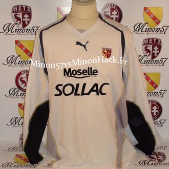 maillot porté AGASSA Saison 2004/2005 FC METZ