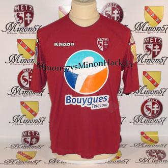 Maillot Porté OBRANIAK Coupe de la ligue 2007 FC METZ