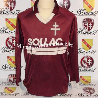 maillot porté Par Luc SONOR Saison 1985/1986 FC METZ