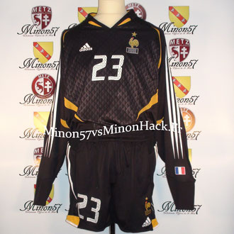 Maillot + Short  Porté par G.COUPET France vs Hongrie 2005
