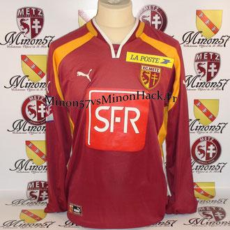 Maillot Porté MEYRIEU Coupe de la ligue 2001 FC METZ
