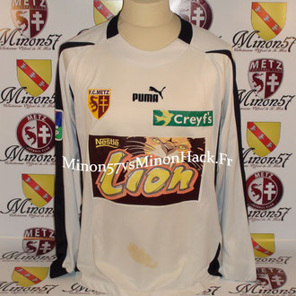 Maillot Porté WALTER Coupe de la ligue 2004 FC METZ