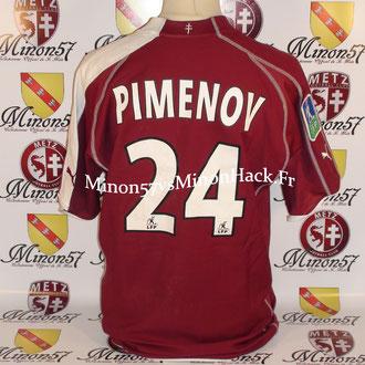 maillot porté par PIMENOV Saison 2005/2006 FC METZ
