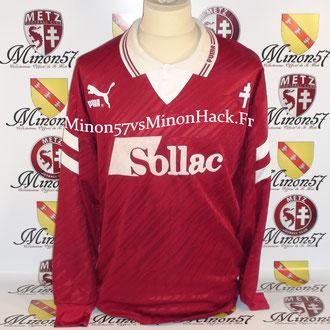 Maillot Porté par Cyrille Pouget Saison 1993/1994 FC METZ