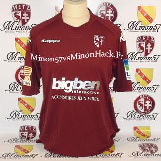 Maillot Porté BOURGEOIS Coupe de la ligue 2010 FC METZ