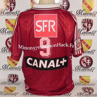 Maillot Porté POUGET Finale Coupe de la ligue 1996 FC METZ