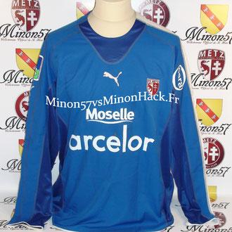 maillot porté par S.BORBICONI Saison 2005/2006 FC METZ