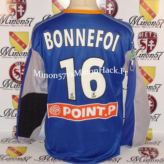 Maillot Porté BONNEFOI Coupe de la ligue 2007 FC METZ