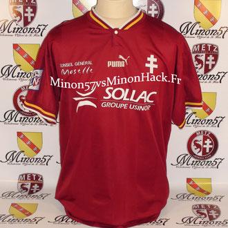 maillot porté KACHLOUL Saison 1997/1998 FC METZ