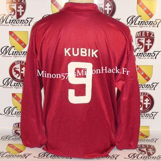 maillot porté par Lubos KUBIK Saison 1992/1993 FC METZ