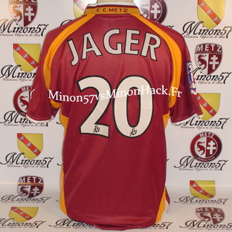 maillot porté JAGER Saison 2000/2001 FC METZ
