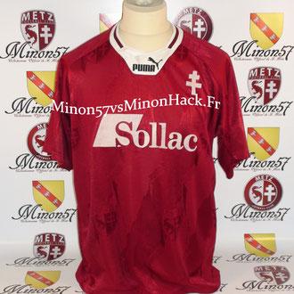 maillot porté R.PIRES Saison 1995/1996 FC METZ