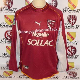 maillot porté WALTER Saison 2002/2003 FC METZ