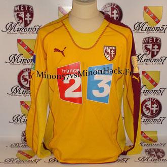 Maillot Porté BERIA Coupe de la ligue 2006 FC METZ
