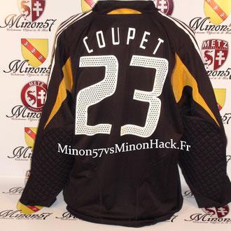 Maillot Porté par G.COUPET France vs Hongrie 2005