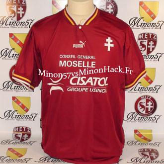maillot porté BOFFIN Saison 1997/1998 FC METZ