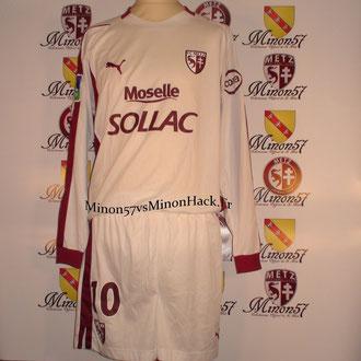 Maillot + Short porté RIBERY Face au PSG  Saison 2004/2005
