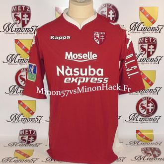 maillot porté par DELHOMMEAU Saison 2007/2008 FC METZ