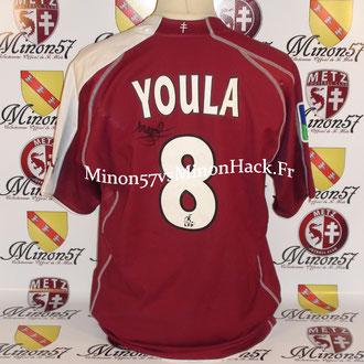 maillot porté par YOULA Saison 2005/2006 FC METZ