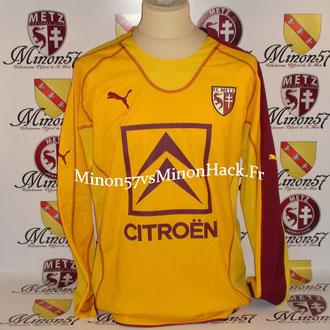 maillot porté MATCH GALA Saison 2005/2006 FC METZ