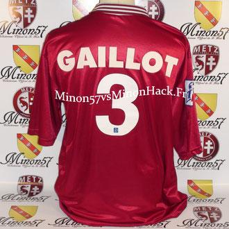 Maillot Porté GAILLOT FINALE Coupe de la ligue 1999 FC METZ