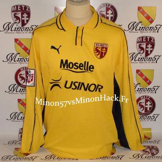 maillot porté SCHEMMEL Saison 1999/2000 FC METZ