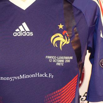 Maillot Porté par RAMI France vs Luxembourg 2010