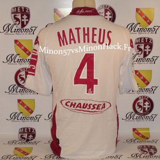 maillot porté par MATHEUS Saison 2008/2009 FC METZ
