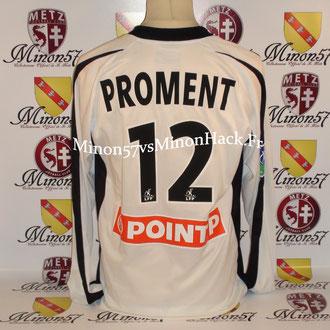 Maillot Porté PROMENT Coupe de la ligue 2004 FC METZ