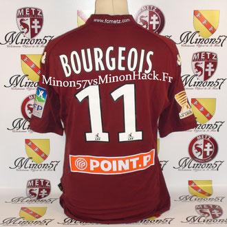 Maillot porté par T.BOURGEOIS Lors du  2ème tour de la coupe de la ligue Face a Tours le 27/08/2009