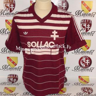 Maillot porté SONOR 1984  Barcelone vs Fc Metz 1984