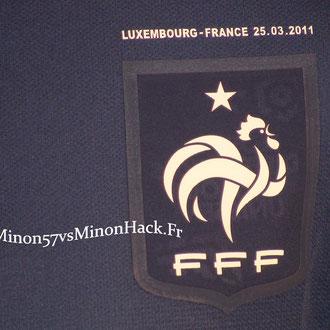 Maillot Porté par F.RIBERY Luxembourg vs France 2011