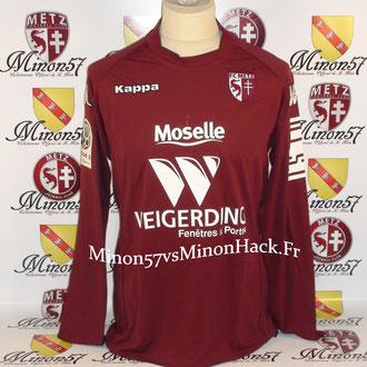 maillot porté par C.GUEYE Saison 2009/2010 FC METZ