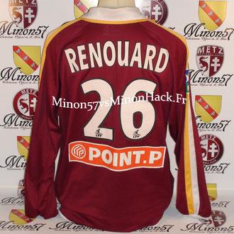 Maillot Porté RENOUARD Coupe de la ligue 2004 FC METZ