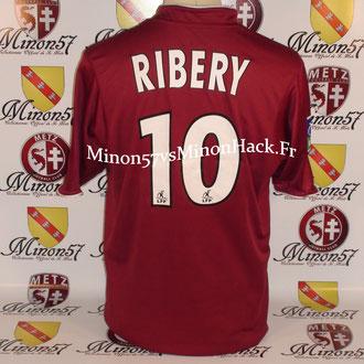 maillot porté RIBERY Saison 2004/2005 FC METZ