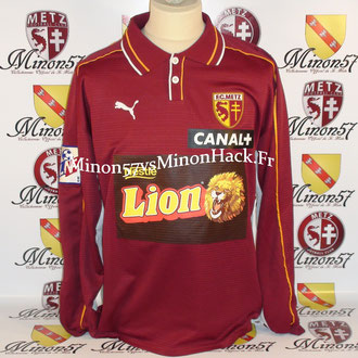 Maillot Porté WILLEMIN Coupe de la ligue 2000 FC METZ