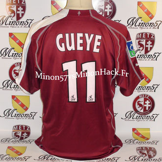 Maillot porté par B.Gueye 2000 Match en ligue 1  FC Metz 2006