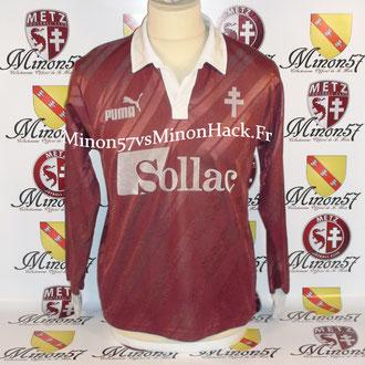 maillot porté  Saison 1990/1991 FC METZ