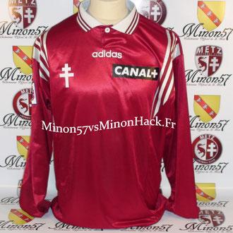 Maillot Porté R.PIRES Coupe de la ligue 1998 FC METZ