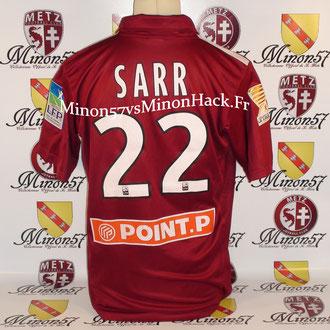 Maillot porté par SARR 1er tour coupe de la ligue