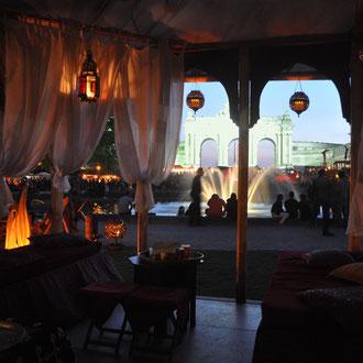 Zelt aus 1001 Nacht in Brüssel