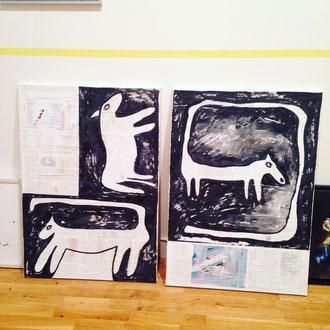 Animalforms I und II in der Kunstremise, Bleibtreustr. 1, Berlin, Bernadette Schweihoff, 2017/2018