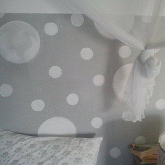 Wandmalerei Schlazimmer 'Monde`