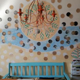 Wandmalerei Küche 'Sonne und Meer`