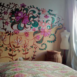 Wandmalerei Schlafzimmer 'Dschungel`